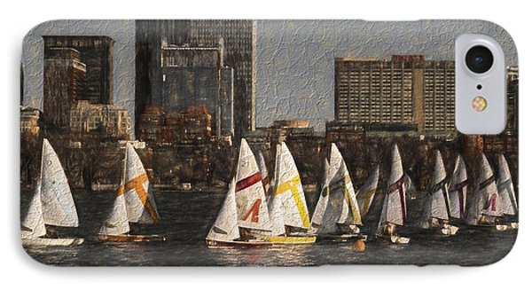 Boats On The Charles River Boston Ma IPhone Case by Toby McGuire