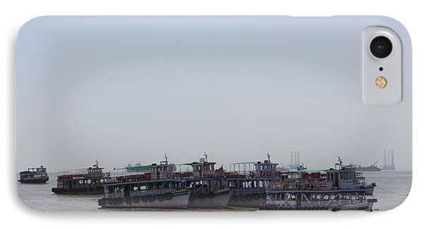 Boats On The Indian Ocean In The Haze IPhone Case