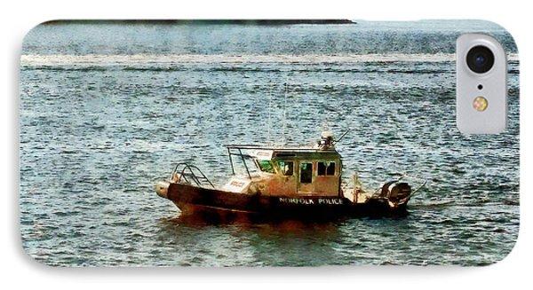 Boats - Police Boat Norfolk Va Phone Case by Susan Savad