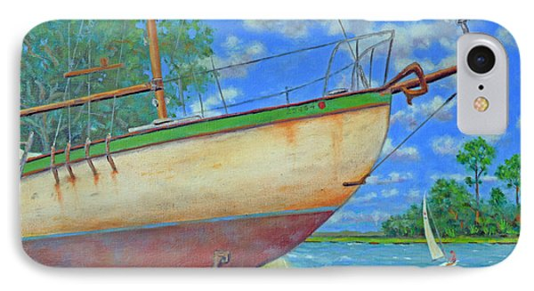 IPhone Case featuring the painting Boatyard On Shem Creek by Dwain Ray