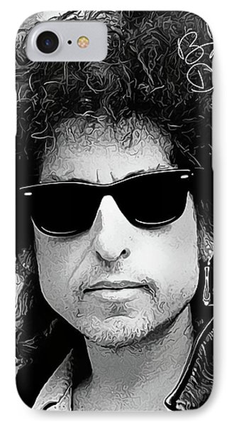 Bob Dylan Art 2 With Autograph IPhone Case by Kjc