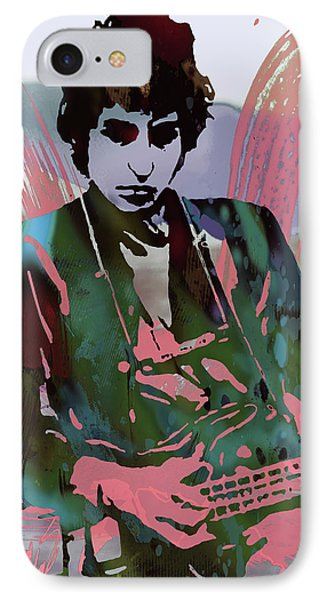 Bob Dylan Modern Etching Art Poster IPhone Case by Kim Wang