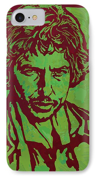 Bob Dylan Pop Art Poser IPhone 7 Case by Kim Wang