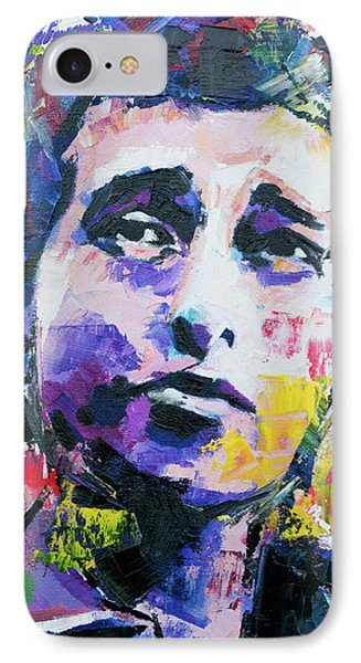 Bob Dylan Portrait IPhone 7 Case by Richard Day
