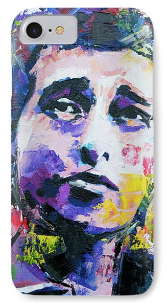 Bob Dylan Portrait IPhone Case by Richard Day