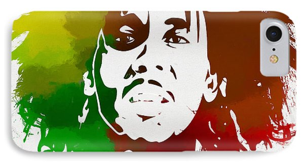 Bob Marley Colors IPhone Case by Dan Sproul