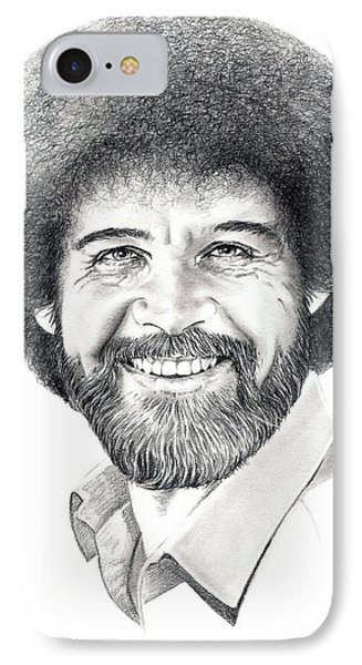 Bob Ross IPhone Case by Murphy Elliott