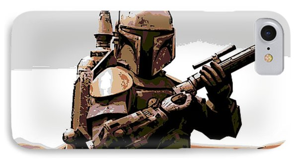 Boba Fett IPhone Case by George Pedro
