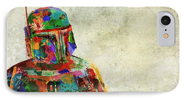 Boba Fett In Colour IPhone Case by Mitch Boyce