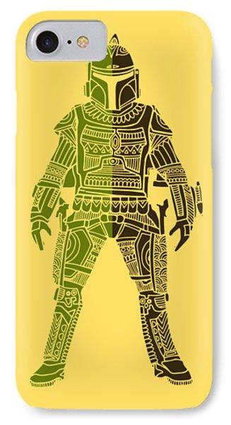 Boba Fett - Star Wars Art, Green 03 IPhone Case