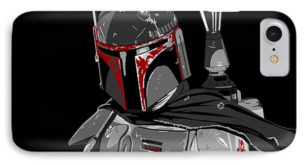 Boba Fett Star Wars Pop Art Phone Case by Paul Dunkel