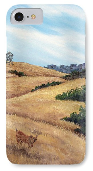 Bobcat At Rancho San Antonio IPhone Case by Laura Iverson
