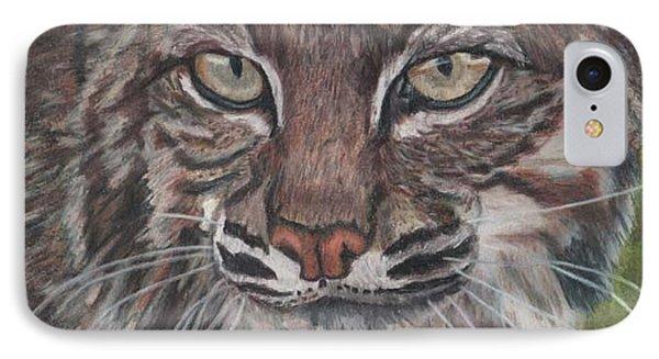 Bobcat Eyes IPhone Case by Gail Seufferlein