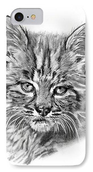 Bobcat Kitten IPhone Case by Reed Palmer