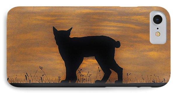 Bobcat - Sunset IPhone Case by D Hackett