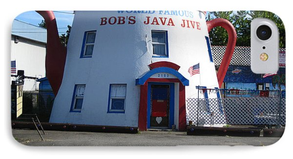 Bob's Java Jive Coffee Pot IPhone Case by Kym Backland