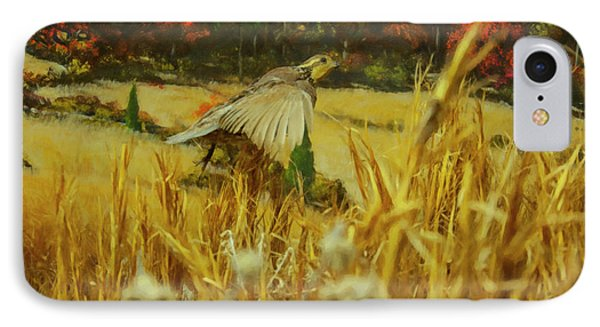 IPhone Case featuring the digital art Bobwhite In Flight by Chris Flees
