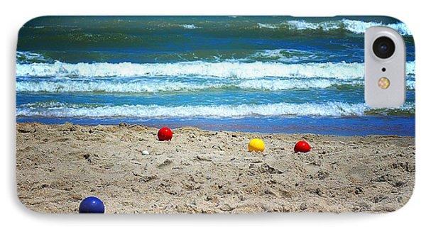 IPhone Case featuring the photograph Bocce On The Beach by Greg Simmons