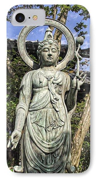 Boddhisattva Buddhist Deity - Kyoto Japan Phone Case by Daniel Hagerman