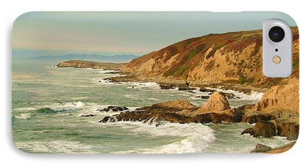 Bodega Bay Coastline  One IPhone Case by Alberta Brown Buller