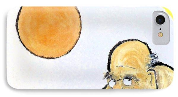 Bodhidharma Musing Silence IPhone Case