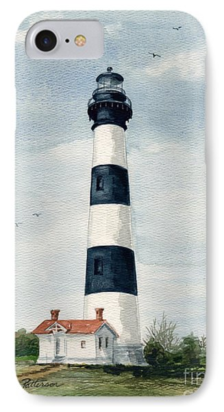 IPhone Case featuring the painting Bodie Island Lighthouse by Nancy Patterson
