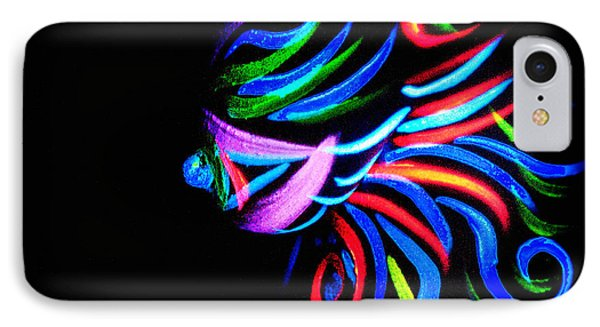 IPhone Case featuring the painting Body Art Breast by Tbone Oliver
