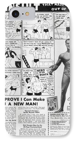 Body-building Ad, 1962 Phone Case by Granger