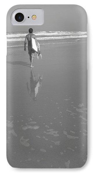 Bodyboarding In Black And White 2 Phone Case by Mandy Shupp