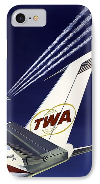 Boeing 707 Trans World Airlines C. 1960 IPhone Case by Daniel Hagerman