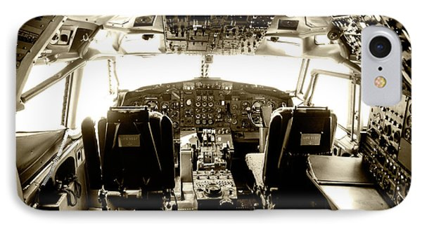 Boeing 747 Cockpit 21 IPhone Case by Micah May