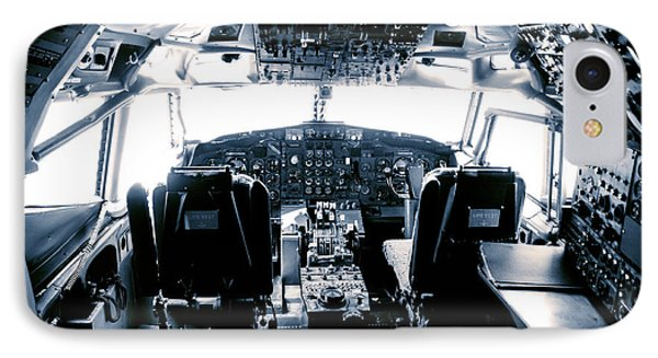 Boeing 747 Cockpit 22 IPhone Case by Micah May