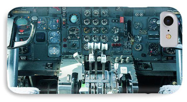 Boeing 747 Cockpit 23 IPhone Case by Micah May