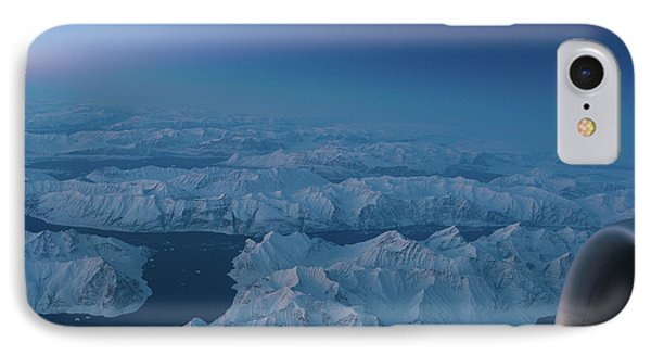 Boeing 777 Flying Over Greenland Fjords IPhone Case by Mike Reid