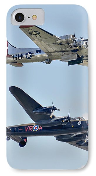 Boeing B-17g Flying Fortress And Avro Lancaster IPhone Case by Alan Toepfer