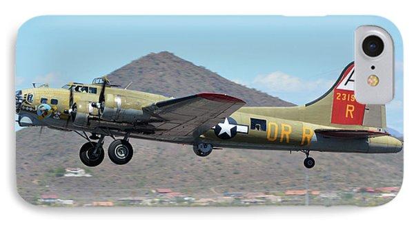 Boeing B-17g Flying Fortress N93012 Nine-o-nine Deer Valley Arizona April 13 2016 Phone Case by Brian Lockett