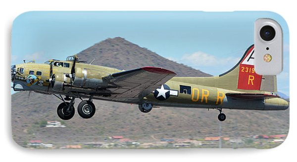 IPhone Case featuring the photograph Boeing B-17g Flying Fortress N93012 Nine-o-nine Deer Valley Arizona April 13 2016 by Brian Lockett