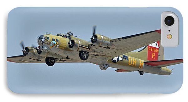 IPhone Case featuring the photograph Boeing B-17g Flying Fortress N93012 Nine-o-nine Phoenix-mesa Gateway Airport Arizona April 15, 2016 by Brian Lockett