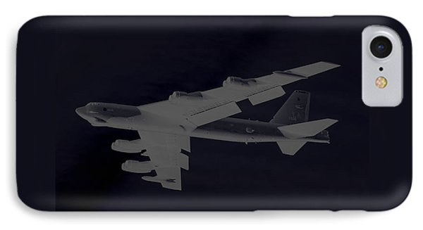 Boeing B-52 Stratofortress Taking Off On A Dangerous Night Mission Tinker Afb 3 Contrasting Borders IPhone Case