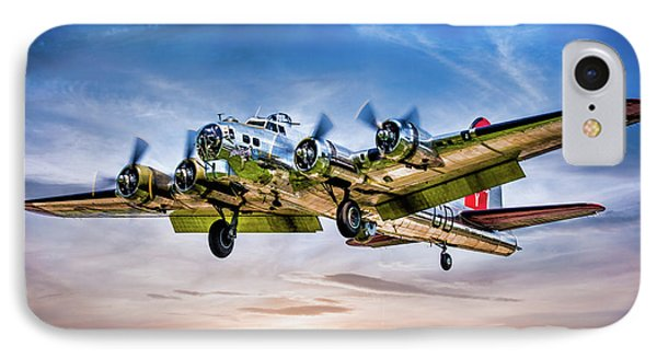 IPhone Case featuring the photograph Boeing B17g Flying Fortress Yankee Lady by Chris Lord