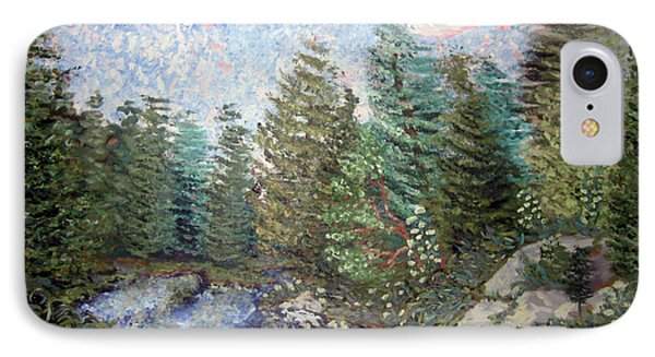 IPhone Case featuring the painting Bog River Morning by Denny Morreale