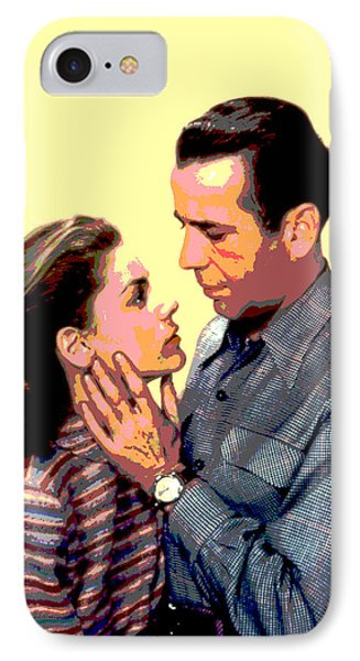 Bogart And Bacall IPhone Case by Charles Shoup