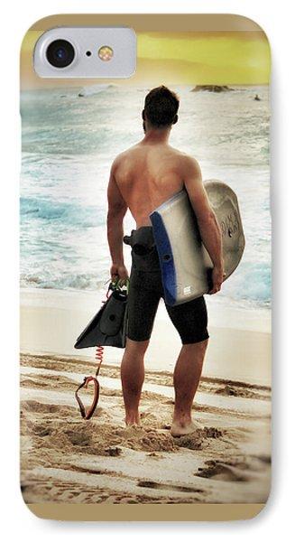 Boggie Boarder At Waimea Bay IPhone Case