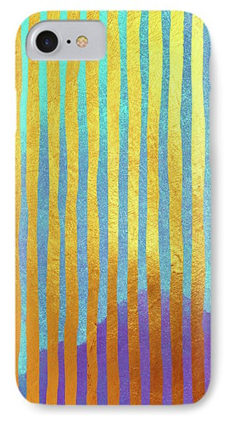 Bohemian Gold Stripes Abstract IPhone Case by Tina Lavoie