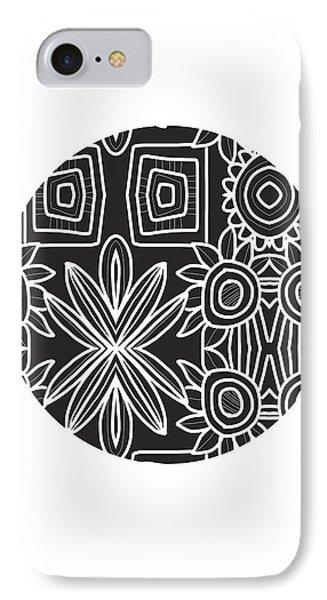Boho Black And White Ball 1- Art By Linda Woods IPhone Case