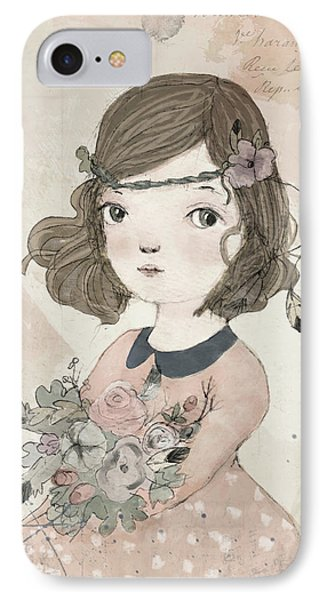 Boho Little Girl IPhone Case by Paola Zakimi