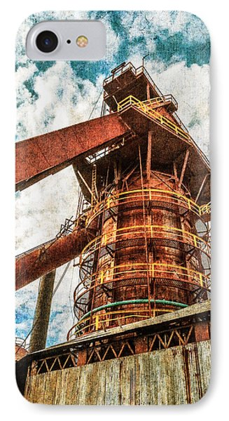 Boiler At Sloss Furnaces Phone Case by Phillip Burrow