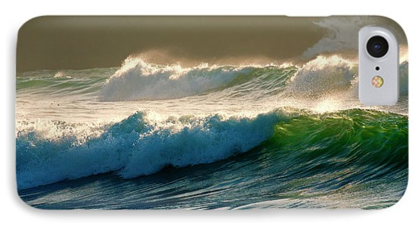 Boiler Bay Waves Rolling Phone Case by Mike  Dawson