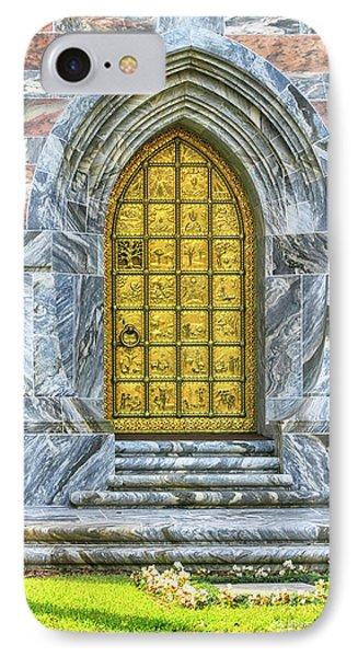IPhone Case featuring the photograph Bok Tower Door by Deborah Benoit