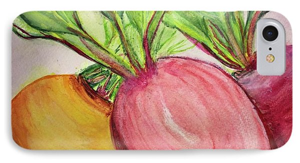 IPhone Case featuring the painting Bold Beets by Kim Nelson